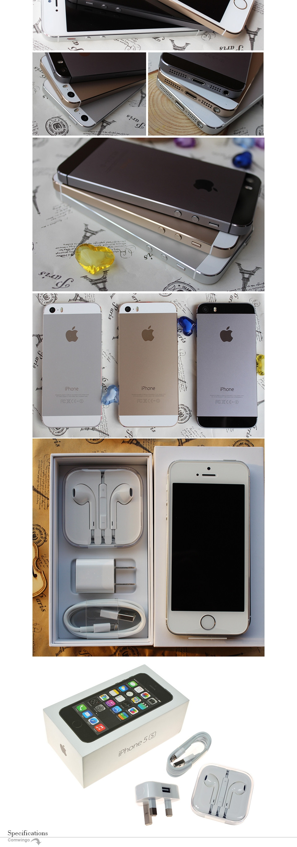 Фото Оригинальный Apple iphone 5s 16GB / 32GB ROM IOS White Black GPS GPRS A7 IPS LTE восстановленный