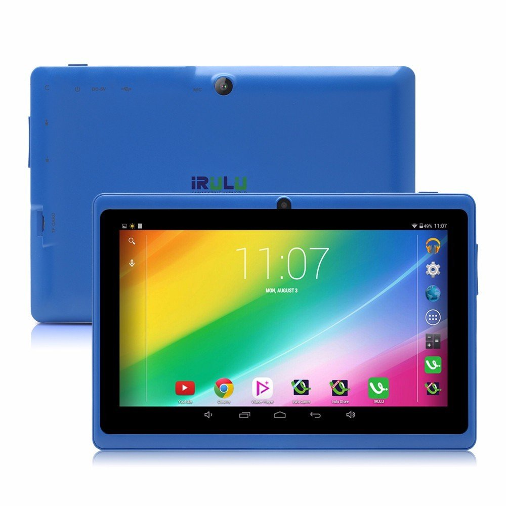 Фото iRULU eXpro X1 7'' Tablet Android 4.4 Quad Core 1.5GHz 16GB ROM Dual Camera 1024x600 Tablet PC Support OTG WIFI With Multi Color