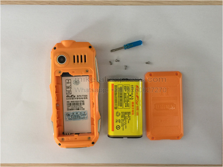 Фото GOFLY F7000 Russian - 6800mAh Battery cell mobile phone P069