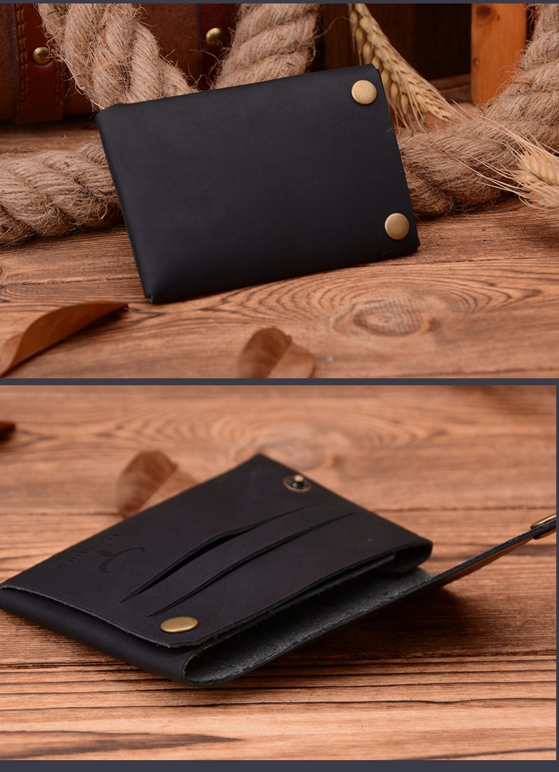 Фото COWATHER New arrival Credit Card holder Crazy horse leather wallet men cow genuine leather good cards holders 126