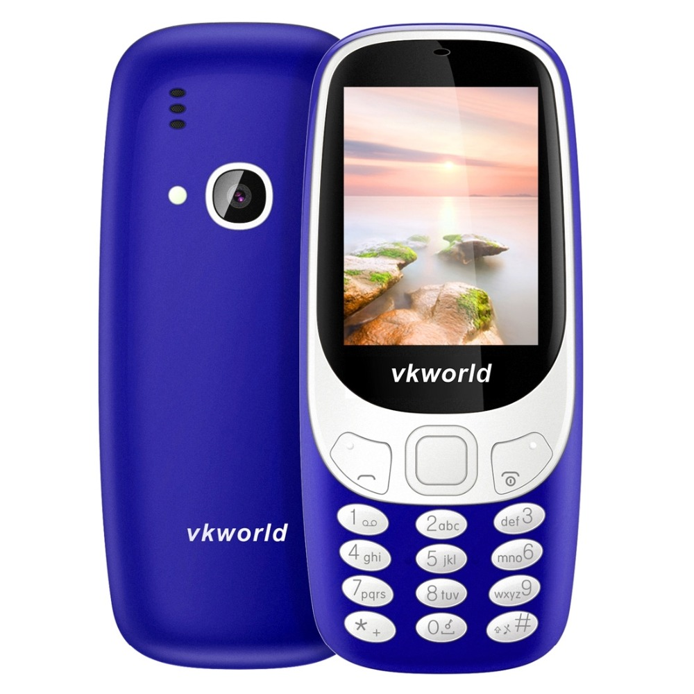 Фото VKworld Z3310 Elder Phone 3D 2.4 inch 1450mAh 2.0MP GSM 2G Mobile Phone Dual SIM FM Torch Bluetooth Elder Phone Large Buttom