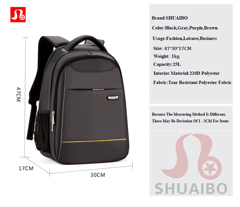 Фото SРЮКЗАК SHUAIBO STRONG POL15 Inch Laptop