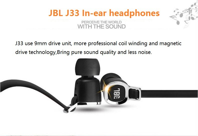 Фото Original JBL J33 Fashion Best Bass Stereo Earphone For Android IOS Mobile phone Earbuds Headsets Without Mic Earphones