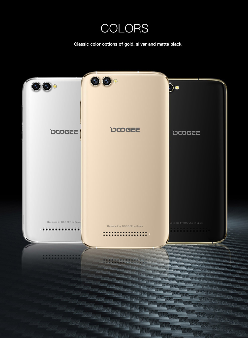 Фото DOOGEE X30 3G Mobile Phones Android 7.0 2GB RAM 16GB ROM Quad Core Smartphone 2x8.0MP+2x5.0MP Four Cameras 5 inch Cell Phone