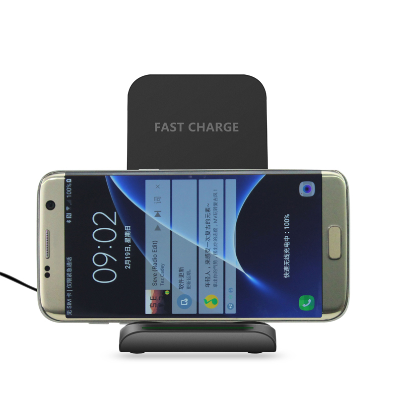 Фото RAXFLY QI Wireless Charger For iPhone X Smart IC Wireless Fast Charger Phone Holder For iPhone 8 8 Plus Holder Case