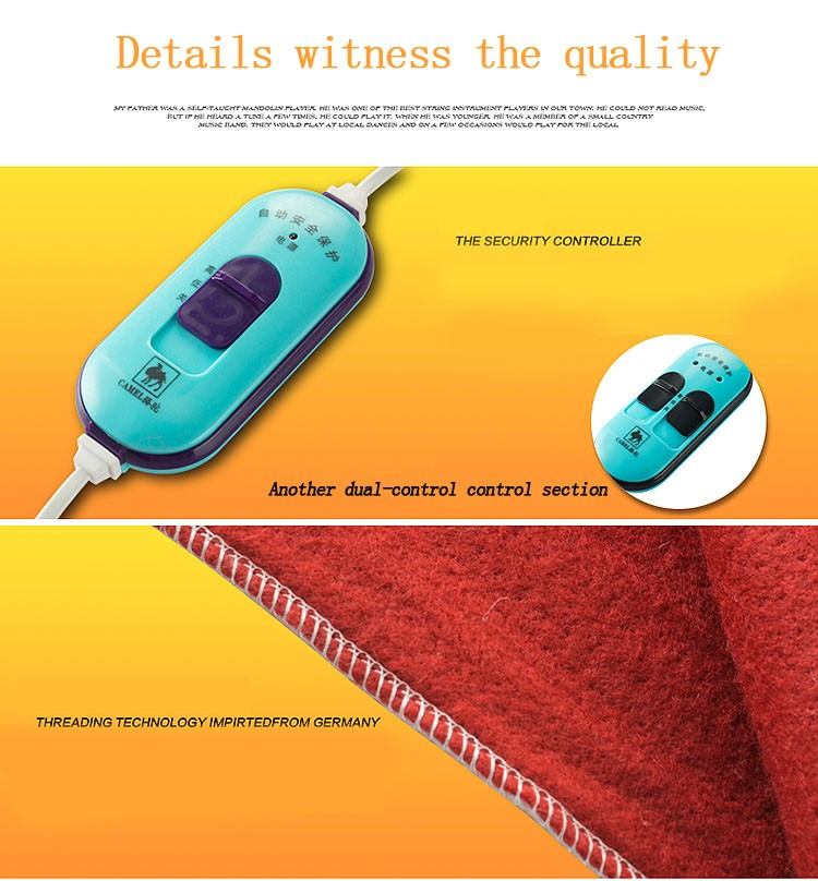 Security Automatic Protection Heated Blanket Electric blankets Heating mattress thermostat / drying warmth 150x70cm