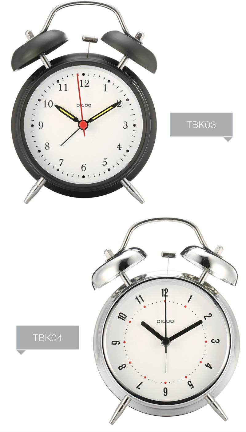 Фото Digoo 4 Inches Ultra-Stille Classic Twin Bell Clock Series Retro Metal Style Twin Bell Clock Bedroom Desk Table Alarm Clock