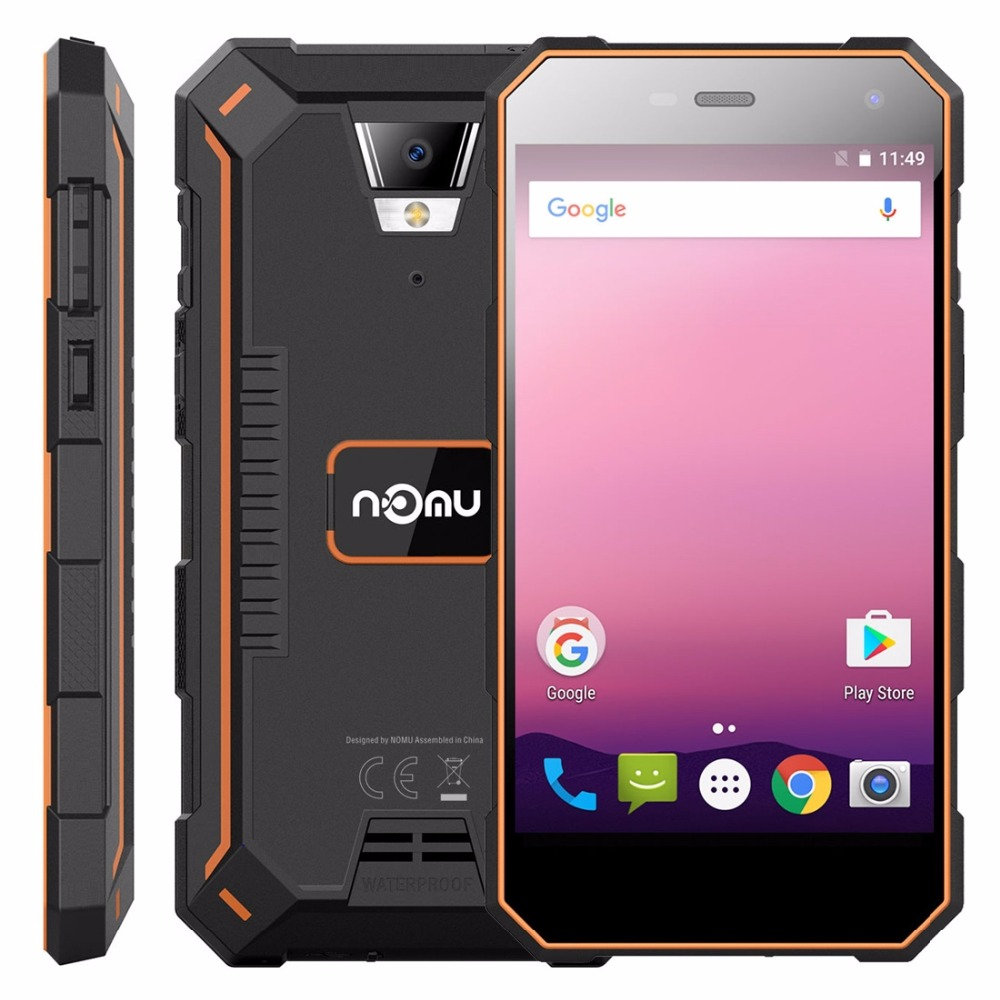 Фото NOMU S10 Pro Triple Proofing Phone 3GB+32GB IP68 Waterproof 5000mAh 5.0'' Android 7.0 MTK6737 Quad Core up to 1.5GHz 4G OTG