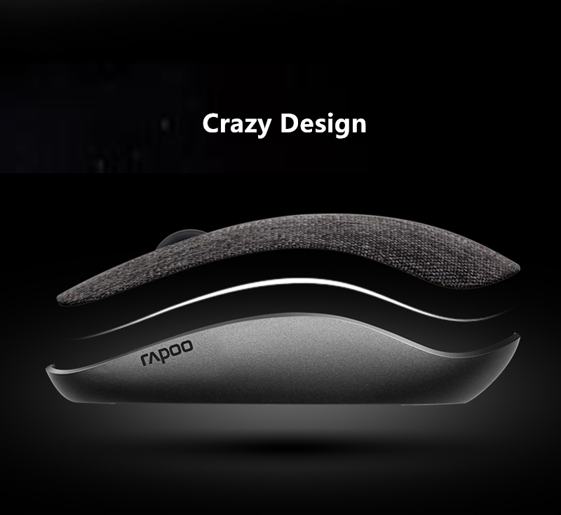 Фото 2017 New Rapoo Fabric Optical Wireless Mouse USB Gaming Mice with Soft Fabric Cover Super Slim Portable For Laptop Computer