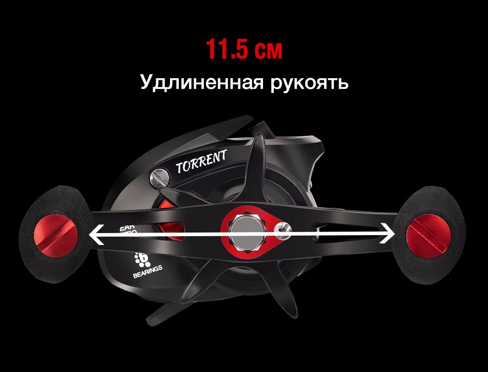 Фото Piscifun Torrent Baitcasting Reel With Cover Bag 8.1kg Carbon Drag 7.1:1 Gear Ratio Saltwater Freshwater Baitcaster Fishing Reel