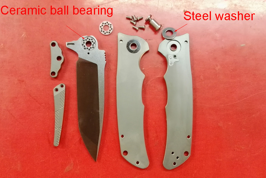 Фото Y-START VG10 blade folding knife ceramic ball bearing TC4 Ti Handle Outdoor Camping Hunting Pocket knife Drop shipping