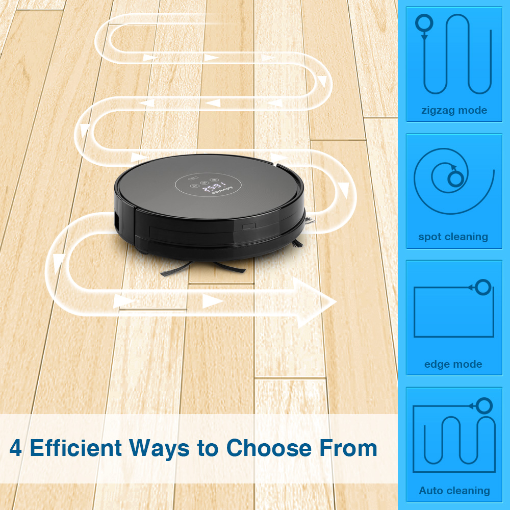 Фото Alfawise X5 Robotic Vacuum Cleaner 1000pa Strong Suction Alexa Control Wet & Dry Moping Auto Self Charging Best Vacuum Cleaner