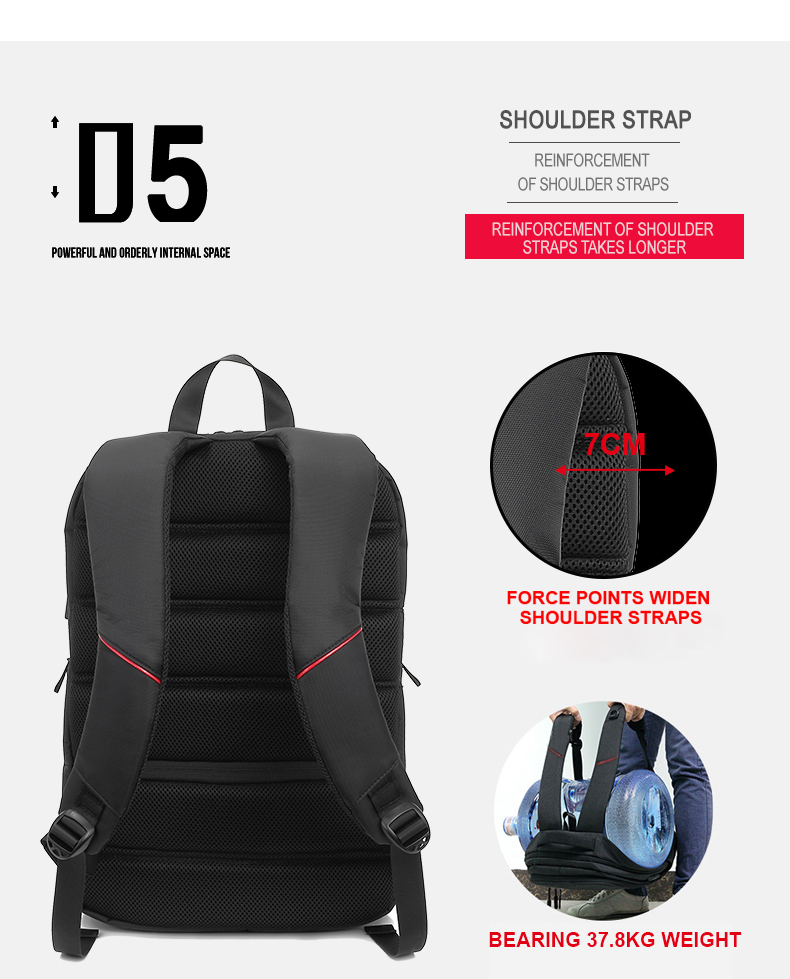"Фото KINGSLONG Brand New 15.6""Men's Laptop Backpack Мужской рюкзак."