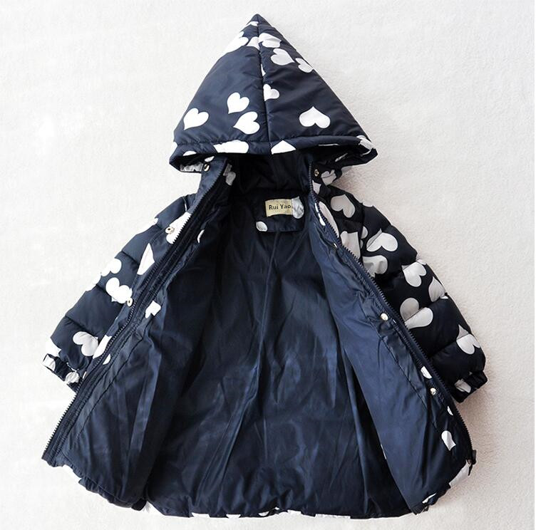 Фото Girls Winter Jackets Lolita Kids Куртка для девочек 2-9 лет.