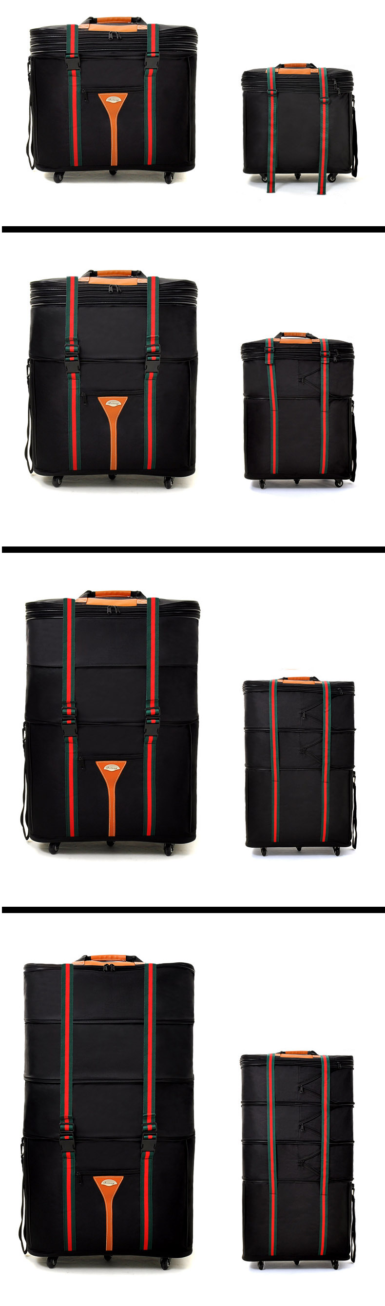 Фото Air Shipping Luggage Bag Large Capacity Move 32-inch Travel Bag Spinner Wheel Foldable Luggage Trolley Bag