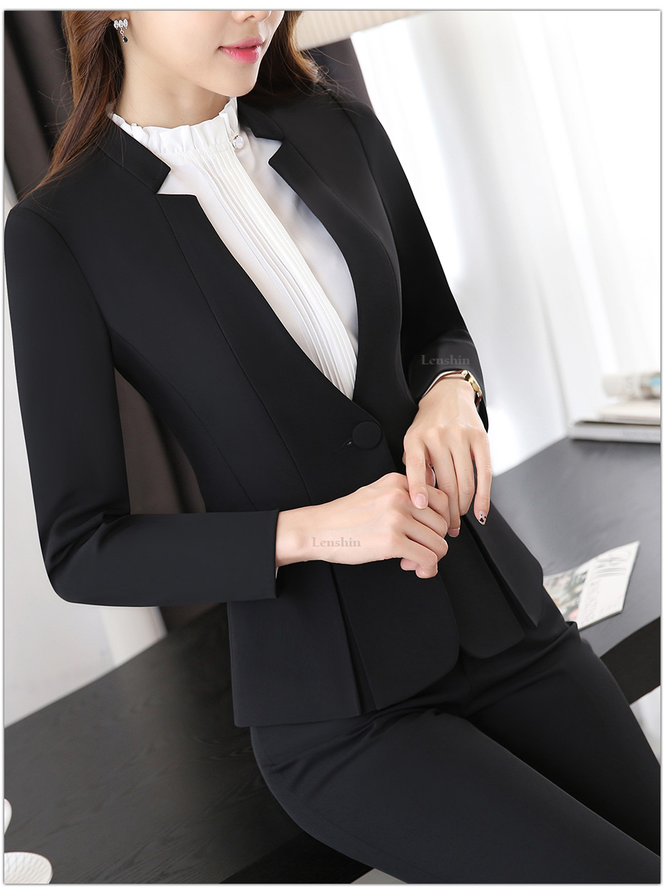 Фото Women elegant Jacket with Trousers Женский костюм.