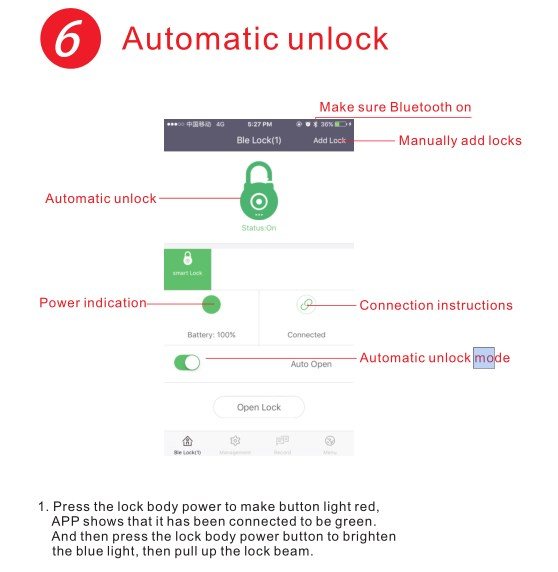 Фото Смарт замок Waterproof Keyless Smart Electronic Wireless Blue tooth Door Lock for Bike Motorycle Door APP Phone Control