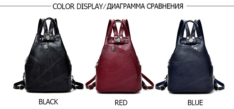 Фото Очень классный рюкзак, есть 6 цветов Fashion Leisure Women Backpacks Women's PU Leather Backpacks Female school Shoulder bags for teenage girls Travel Back pack