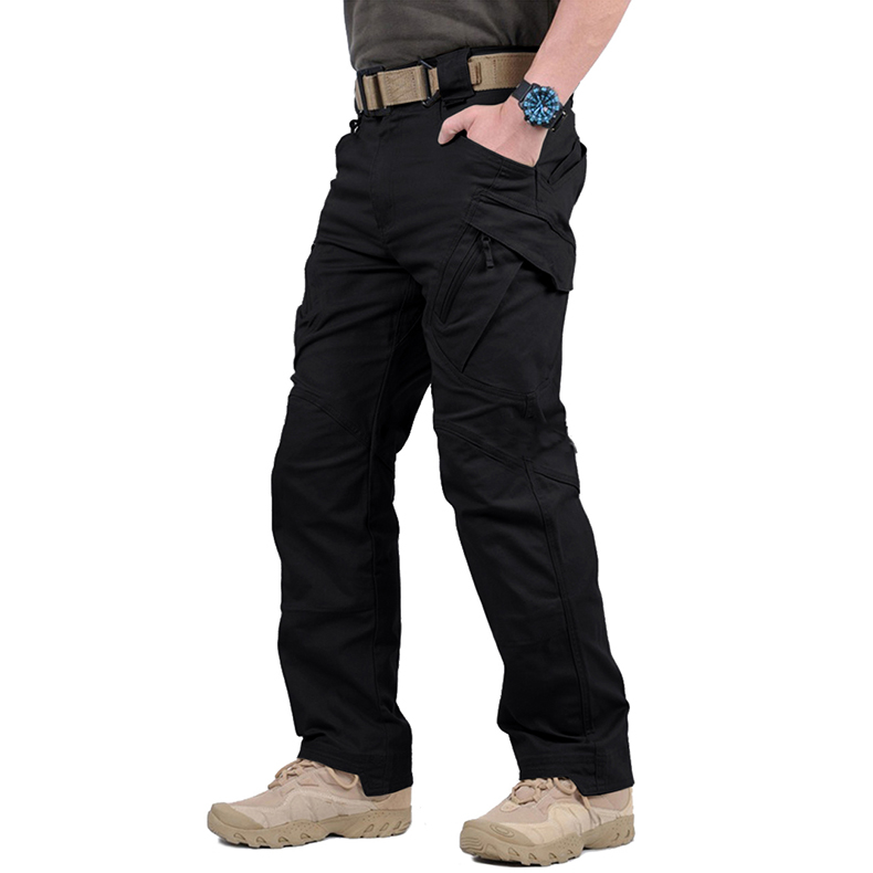 Фото TACVASEN IX9 Men City Tactical Pants Multi Pockets Cargo Pants Military Combat Cotton Pant SWAT Army Casual Trousers JLTX-002-01