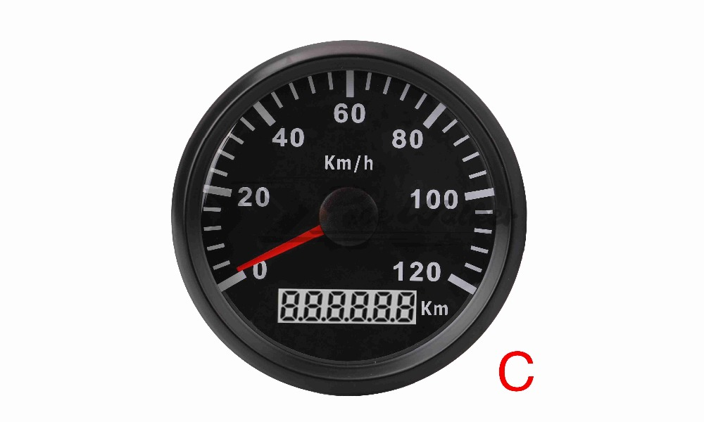 Фото 85mm GPS Speedometer Stainless Waterproof Gauge 120KM/H Speed for Car Truck 12V 24V