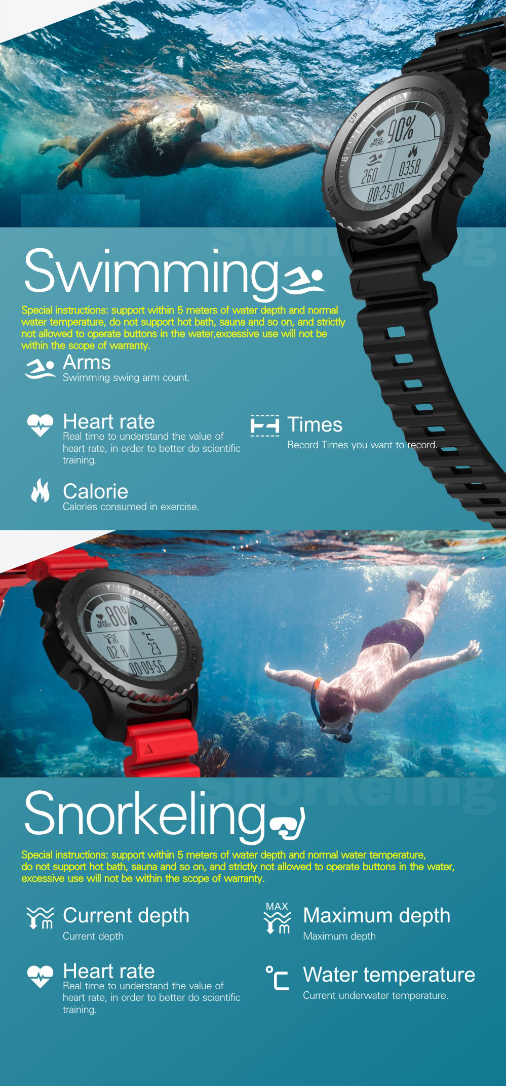 Фото S968 smart watch Heart Rate Monitor Sport Waterproof bluetooth GPS Smart Watch Support Smartwatch for Android IOS Phone watch