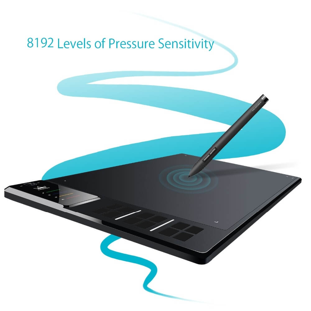 Фото Графический планшет Huion GIANO WH1409 14-inch 8192 Levels Wireless Digital Tablets Graphic Tablets Wire Pen Tablet Animation Drawing Tablet