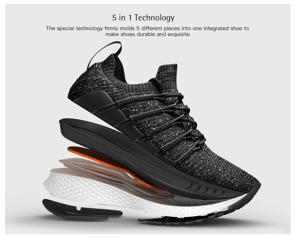 Фото 2018 Original Xiaomi Mijia 2 Uni-Moulding Techinique New Fishbone Lock System Elastic Knitting Vamp for Man