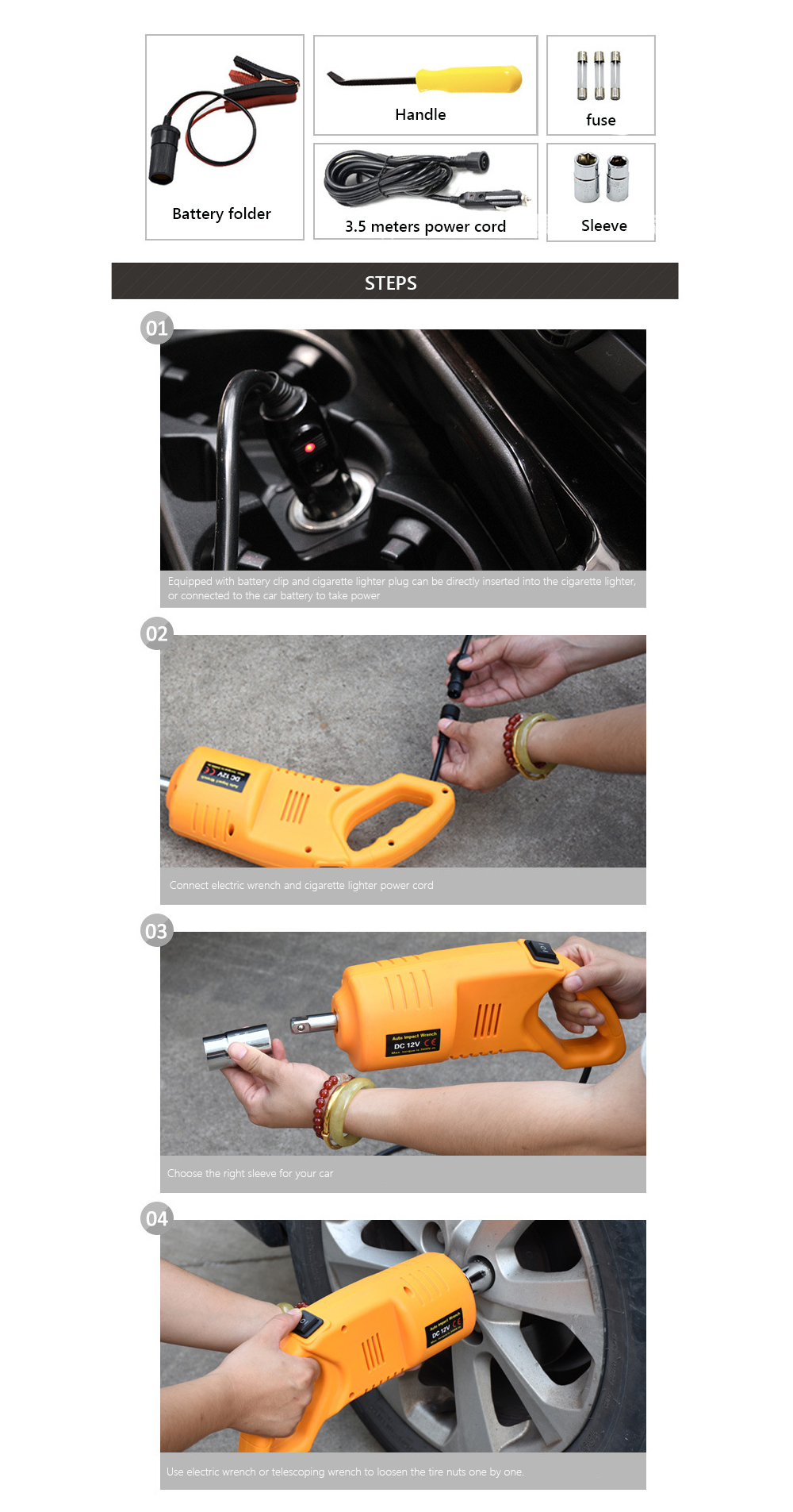 Фото Электро инструменты для шиномонтажа 12V Electric Scissor-type Jack Car Car Electric Jack Vehicle Electric Wrench Tire Remover Equipment Car Electric Air Cannon