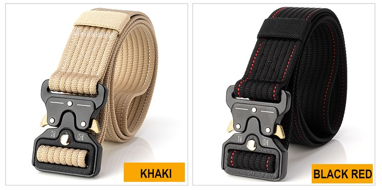 Фото New Cobra Buckle Tactical Belt 3.5cm High Quality Nylon 120cm Casual Canvas Belt For Men And Women Military Training Belt B3E2