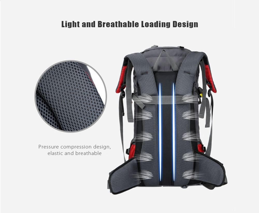 Фото Free Knight 60L Waterproof Outdoor Sport Backpack Camping Hiking Bag Women Men Climbing Mountain Travel Rucksack with Rain Cover
