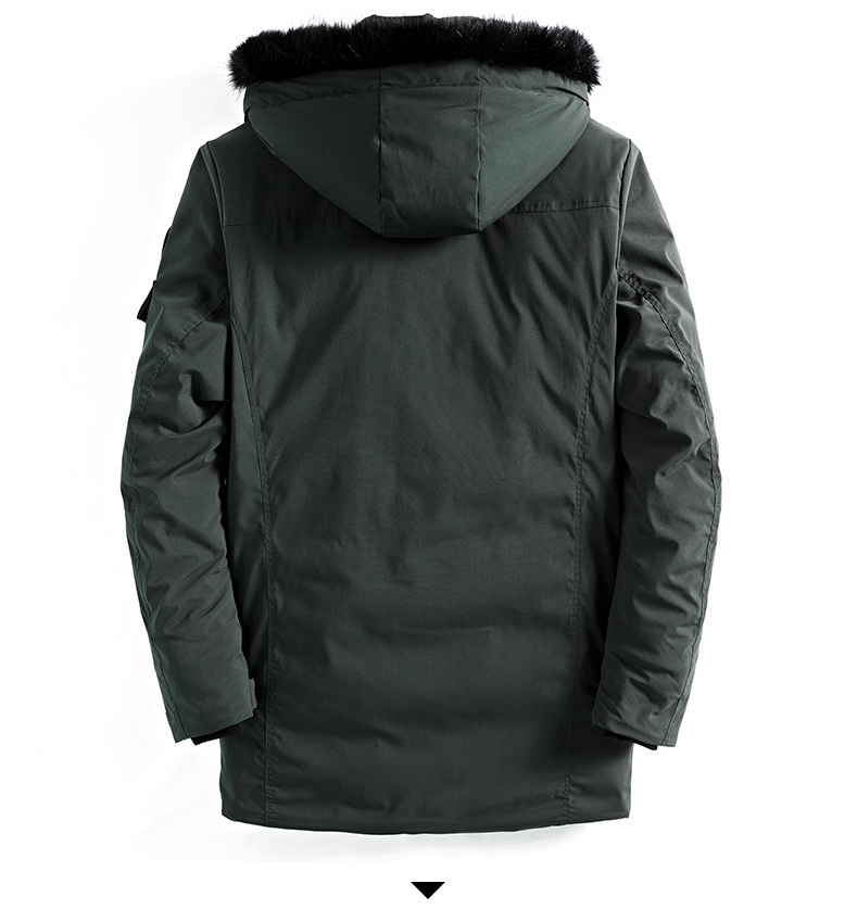 Фото Зимняя куртка Large Size Warm Outwear Winter Jacket Men Windproof PARKAS Hood Brand Clothing