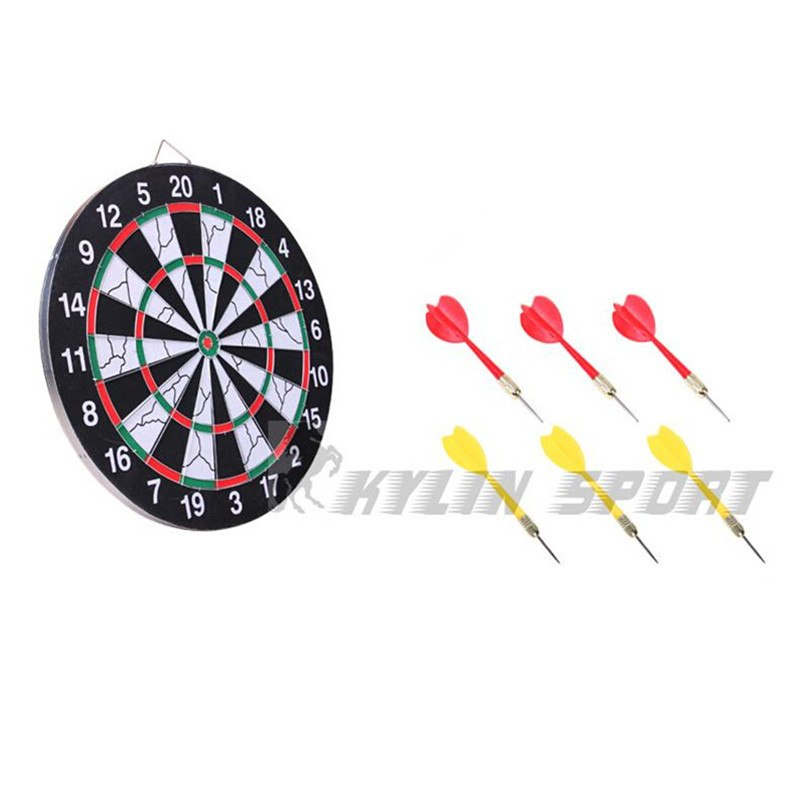 Фото Дартс 15 inch sport double target dart magnetic flocking dartboard board double thickening for wholesale and freeshipping