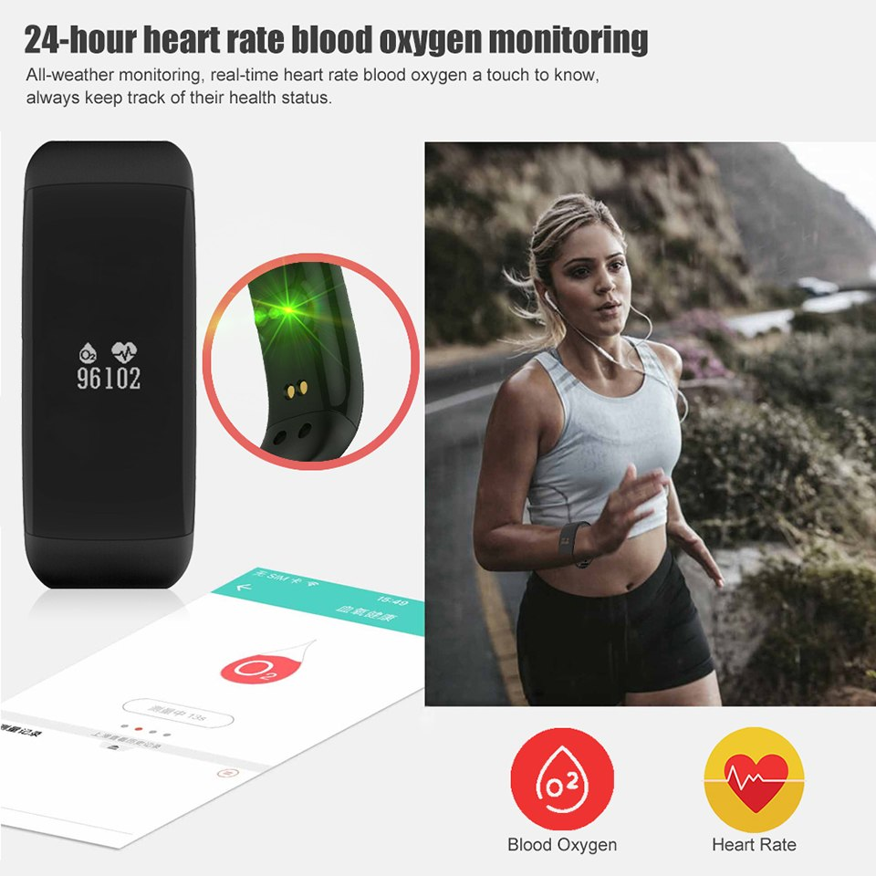 Фото itormis Smart Band Wristband Fitness Bracelet with Fitness tracker Heart Rate Pedometer Blood Pressure PK ID115 MiBand mi band 2