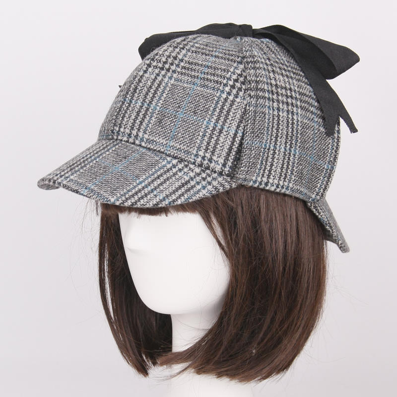 Фото Шапка Шерлока Холмса SHOWERSMILE Sherlock Holmes Hat Unisex Winter Wool Berets For Men Deerstalker Tweed Cap Accessories British Detective Hat Women