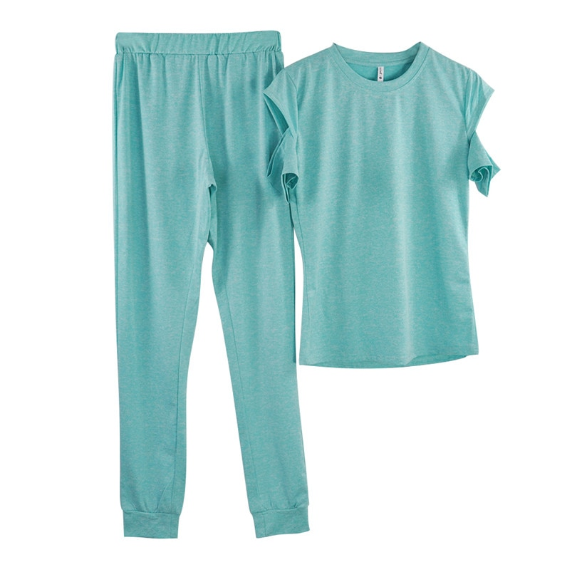Фото T-shirt Tops+ Pants 2 pcs suits home clothes Женский летний костюм.