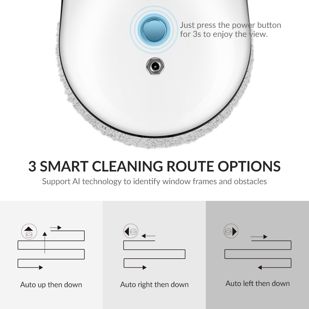 Фото Original ALBOHES Z5 Window Cleaner Automatic Glass Cleaning Robot Vacuum Cleaner Home High Suction of 5Kg Smart Remote Control