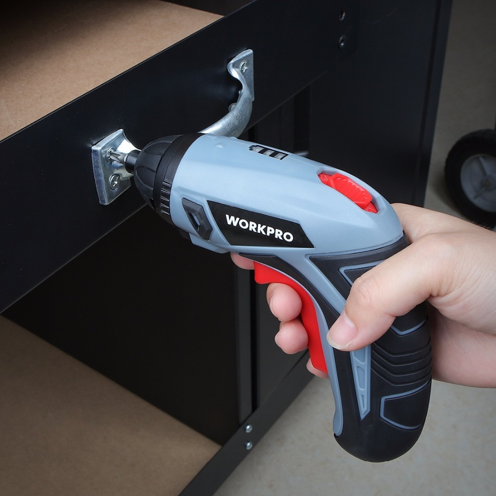 Фото Компактная аккумуляторная отвёртка WORKPRO 3.6V USB Cordless Electric Screwdriver Household Rechargeable Li-ion Screwdriver