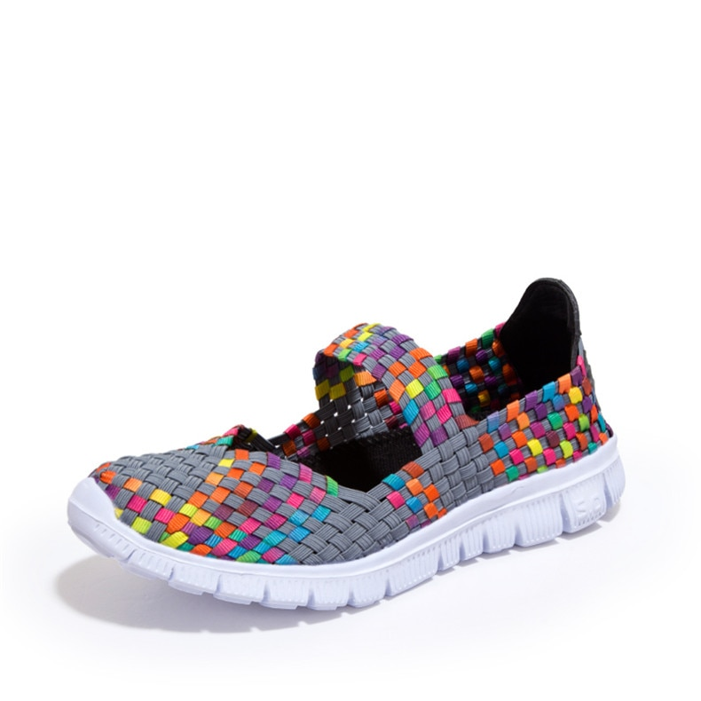 Фото ZHENZU Female Light Running Shoes Antislip Hand-made Weave Sneakers Women Breathable Cool Athletic Sport Shoes Summer Flats